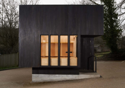 Dark Black Charred Larch Cladding